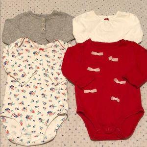 4 Carters Baby Girl Onesies 6M
